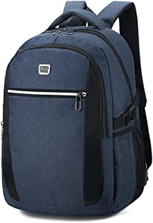 Sturdy Men's Business Computer Backpack Travel and Leisure Travel Shoulder Handbag Schoolbags Large Capacity (Color : Blue)