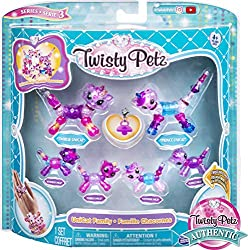 FASHIONABLE COLLECTIBLE JEWELERY: Twisty Petz are the gem bracelets that transform into adorable, collectible animals! Make rings, necklaces and bracelets, wear on a backpack or take them with you on the go! 4 FAMILIES TO COLLECT: In Series 3, add ad...