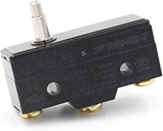 Baomain RZ-15GS-B3 General Purpose Basic Switch, Slim Spring Plunger, Screw Terminal, 0.5mm Contact Gap, 15A Rated Current