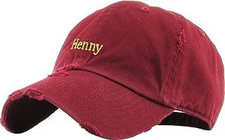 KBETHOS Henny Bottle Dad Hat Baseball Cap Polo Style Unconstructed