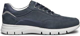 Cordones para hombre negroGiardini E101963U de ante azul o gris, modelo informal, un calzado cómodo adecuado para todas la...