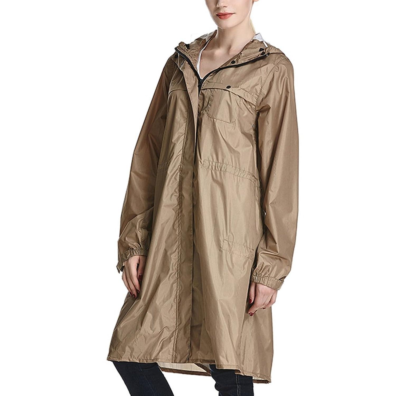 PENGFEI レインコートポンチョ 日焼け止め 防水 帽子の庇 パンツカバー付き トレッキング ライディング 薄くて軽い 女性、 4色 2サイズ (色 : Army Yellow, サイズ さいず : L l)