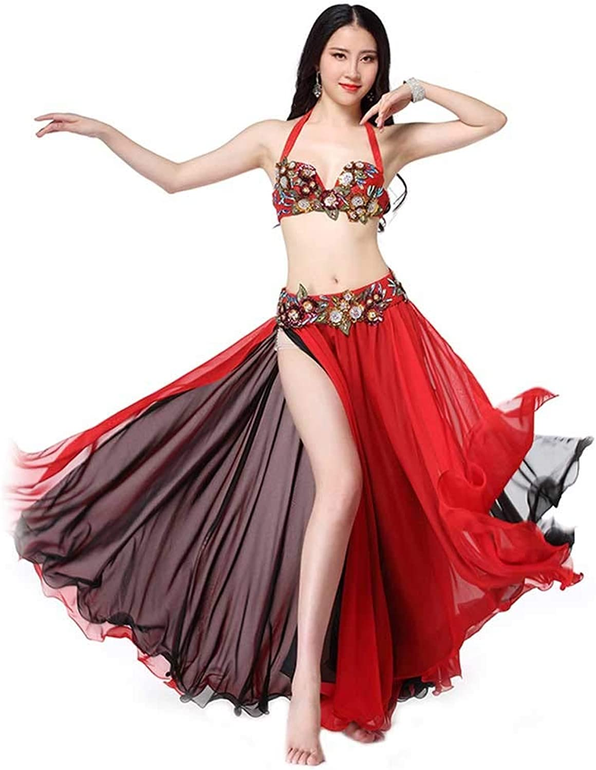 YTS Belly Dance Set Adult Female Costume Sequin Embroidery Performance Costume