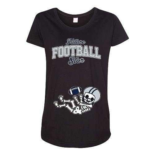 Future Football Star Dallas Baby Skeleton Maternity DT T-Shirt Tee 6486156aa