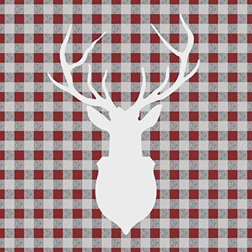 AMBIENTE Tovaglioli di pranzo / Party / circa 33x33cm CERVO Outline Rosso - Cervo Rosso - ideale come regalo