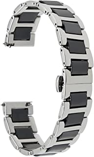 Gear S3 Bands, TRUMiRR 22mm Ceramic Watch Band Quick Release Strap All Links Removable for Samsung Gear S3 Classic/Frontier,Galaxy Watch 46mm, Gear 2 Neo Live,Moto 360 2 46mm,Asus ZenWatch 1 2 Men