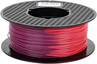 Color Change Purple to Red 3D Printer PLA Filament 1.75 mm by Temperature 1KG Spool (2.2 lbs) Color Changing PLA 3D Printing Materials