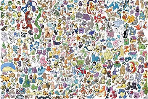 eligjhf Puzzle 1500 Pièces [Partition] Pokémon Db0D Artisanat Jouet Bois Cadeau Décoration87.5x57.5cm
