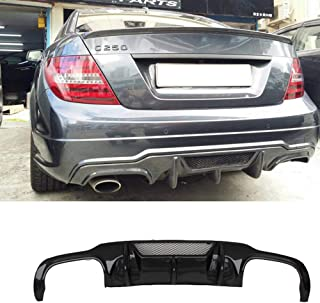 YOUC Carstyling Carbon Fiber C63 Style Rear Bumper Diffuser with Hole for Mercedes Benz C Class W204 C180 C200 C300 2012-2014