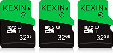 KEXIN 3 Pack 32GB Micro SD Card TF Card Micro SDHC UHS-I Memory Cards Class 10 High Speed TF Cards, C10, U1, 32 GB 3 Pack