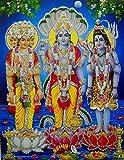 The Trio : Brahma Vishnu Mahesh/Hindu God Poster with