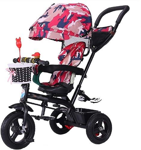 echa un vistazo a los más baratos NZ-Strollers Cochecito de bebé Trike Bike único con Frenos y y y toldo Desmontable Triciclo Plegable para Niños de 6 Meses a 6 años  diseñador en linea