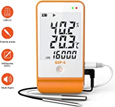 1PCS ThermElc Temperature Data Logger Auto-generate PDF Report Temperature Recorder 32000 Points Plug and Play Password Protection Tester
