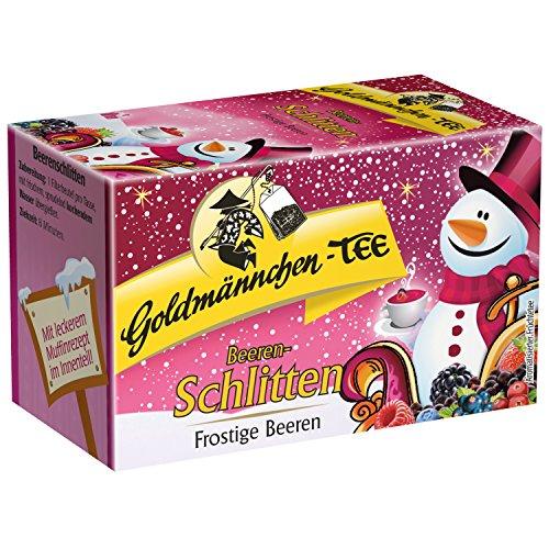 Goldmännchen Tee Beeren-Schlitten Winterliche Beeren, Früchtetee, Früchtemischung20 einzeln versiegelte Teebeutel