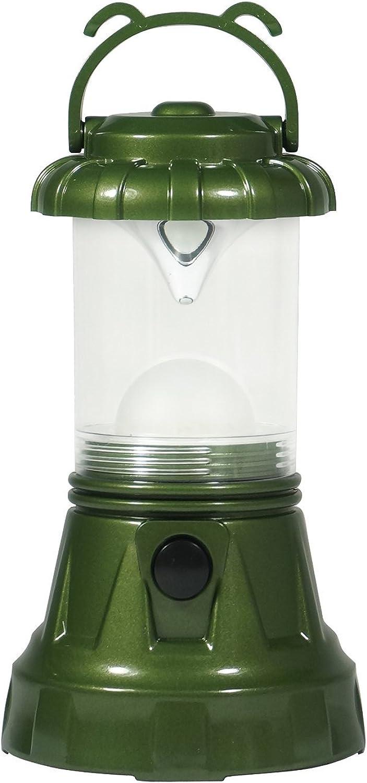 SE FL80617G 11 LED Hurricane Lantern, Green