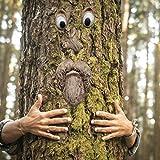 Old Man Tree Hugger, Garden Peeker Yard Art, Escultura De Cara De Árbol Para Decoración De Jardín Adorno De Estatua De Abrazador De Árbol Caprichoso, Escultura De Abrazador De Árbol Al Aire Libre