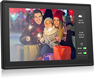 BSIMB Wifi Cloud Digital Photo Frame Digital Picture Frame Dual Display 9 Inch+5.5 Inch IPS Touch Screen Motion Sensor Sent Photos from Anywhere Support iOS/Android.Facebook.Twitter.Email W09 Plus 16G