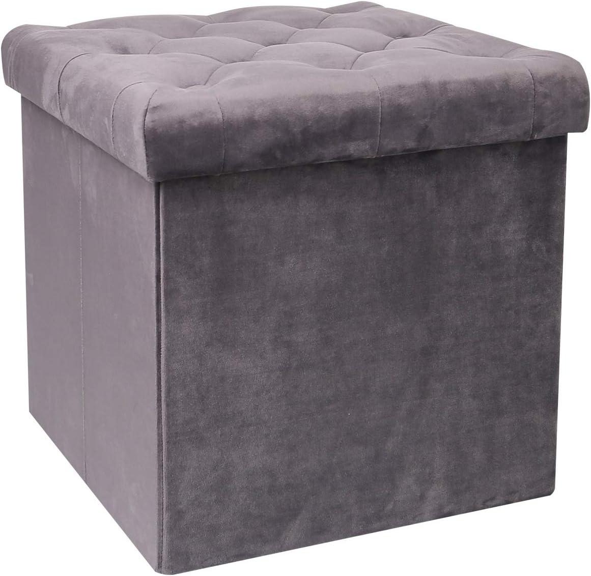 It is very popular B FSOBEIIALEO Storage Ottoman Cube Folding Max 61% OFF Velvet Tufted Ottoma