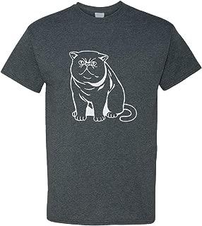 Custom Graphic T Shirts for Men Exotic Shorthair Cat Black White B Cotton Top
