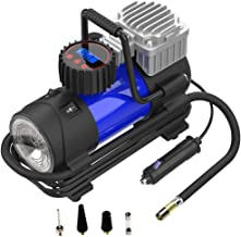 LYSNSH 12V DC Portable Air Compressor - 150 PSI Digital Tire Inflator Tire Pump with Gauge