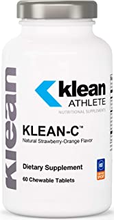 Klean Athlete - Klean-C - Support for Athletes Immune System and Connective Tissues - 60 Chewable Tablets
