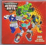 NEW SEALED 2021 Hasbro Official Transformers Rescue Bots 16 Month Wall Calendar