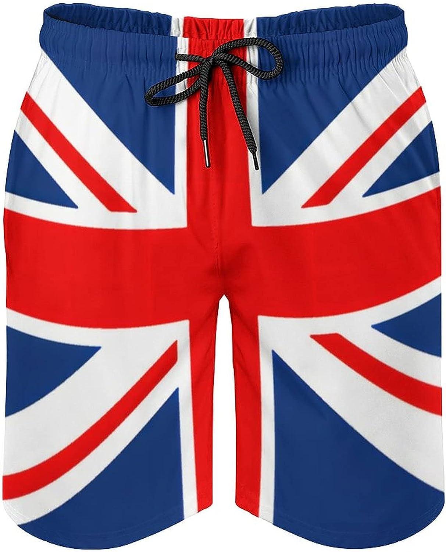 B&MAVIS UK British Flag Men'sSummer Quick Dry Swim Trunks Casual Board Shorts Beachwear for Boys Men