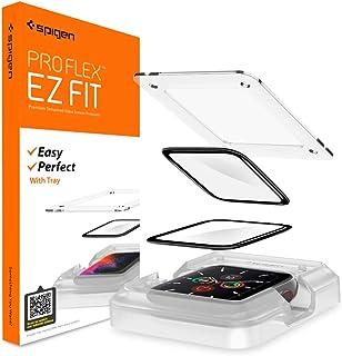 Spigen ProFlex EZ Fit Screenprotector compatibel met Apple Watch 6 44mm, Apple Watch SE 44mm, 2 Stuks, met sjabloon voor i...