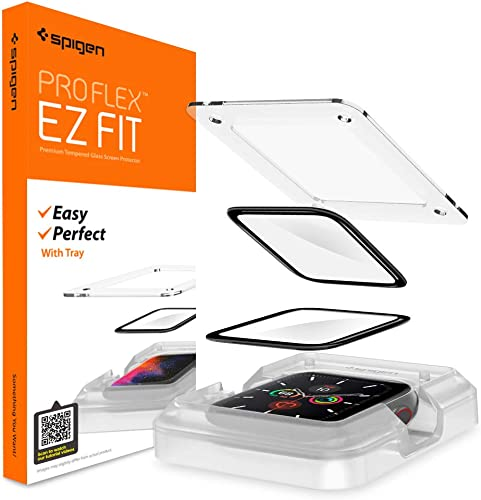 Spigen ProFlex EZ Fit Screen Protector for Apple Watch Series 6 44mm and Apple Watch SE 44mm 2 Pack