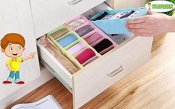 Flipzon Multipurpose Storage Drawer Socks Undergarments Organizer Set of 3, Plastic, (Colour May Vary)