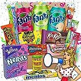 QueenBox®️ Amerikanische Süßigkeiten Box   16 leckere USA Süssigkeiten Kennenlernbox - Candy...