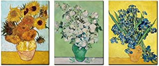 Irises Sunflowers Vincent Van Gogh Paintings Floral Giclee Canvas Prints Kitchen Wall Art for Bedroom Flower Wall Art Home...