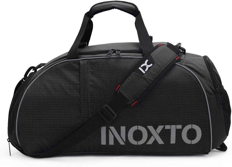 Travel Sports Bag,Lightweight Gym Bag Yoga Swimming Fitness Bag Travel Sports Bag Great for Carry Workout (color   Black)
