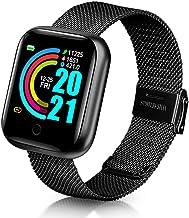 UIEMMY slim horloge Metalen Mode Smart Horloge Dames 2021 Heren Kinderen Sport Polshorloge Fitness Armband Tracker Hartsla...