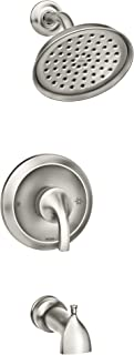 Moen 82303SRN Hamden Posi-Temp Tub and Shower Faucet, Valve Included, Spot Resist Brushed Nickel