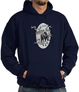 CafePress Jackson Hole Vintage Moose Hoodie Sweatshirt