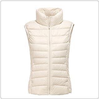 Anghuluqub 90% White Duck Down Women Winter Ultra Light Duck Down Vest Sleeveless Waistcoat