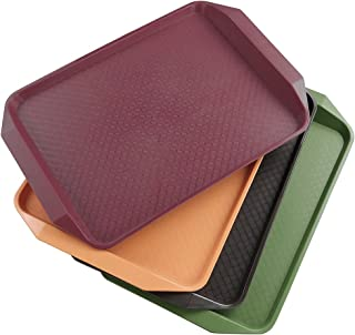 Qsbon Plastic Fast Food Trays for Eating, 17