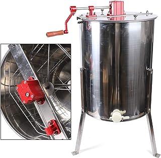 SHIOUCY Edelstahl Imkerei Schleuder manuelle Honigschleuder 4 Honigschleuder Honey Extractor Honig Extraktor Waben Kesselauslass 40mm, Versand aus Deutschland