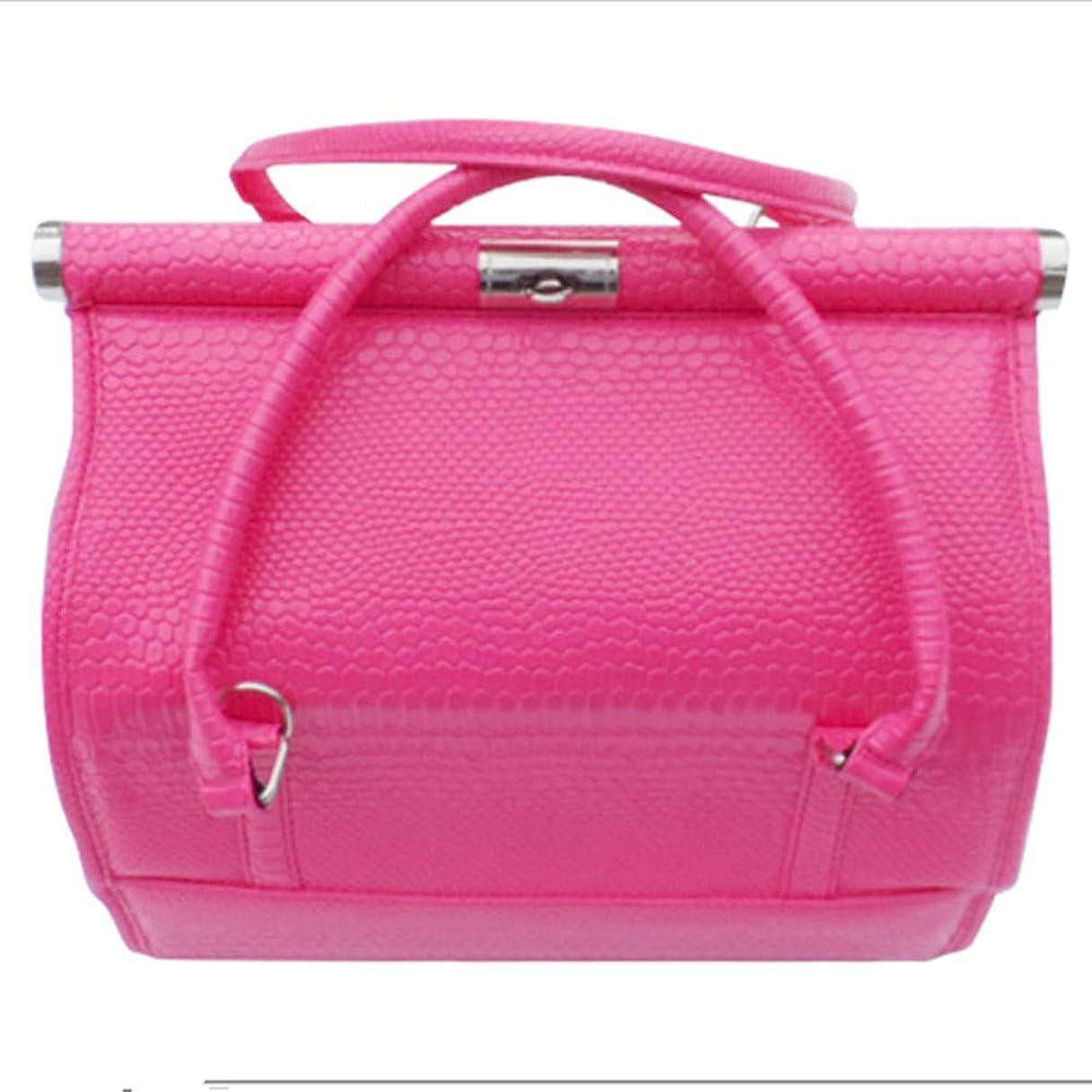 呼吸好色な防止化粧オーガナイザーバッグ 女性の女性のための美容メイクアップのためのポータブル化粧品バッグ旅行と折り畳みトレイで毎日のストレージ 化粧品ケース