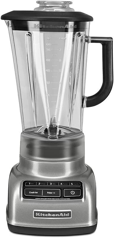 KitchenAid KSB1575CU 5 Speed Diamond Blender With 60 Ounce BPA Free Pitcher Contour Silver