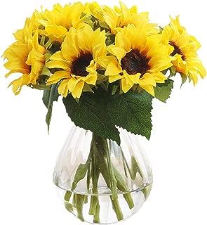 Gumolutin 6 Pcs Artificial Sunflower Bouquet, Wedding Bouquet, Home Kitchen, Ground Garden, Wedding Decoration