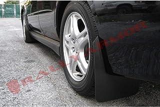Rally Armor MF1-BAS-BLK Basic Black Mud Flap with Logo (02-07 Subaru WRX/STI/RS/2.5i (Wagons req mod)), 1 Pack