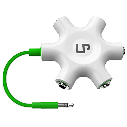 Multi Headphone Splitter, LP 3.5mm Audio Stereo Splitter Cable 3.5mm Male to 5 Port 3.5mm Female for Earphone and Headset Splitter Adapter for iPhone Samsung LG Smartphones Comprimés Lecteurs MP3