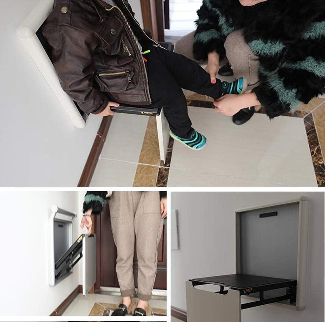 HQQ Tabouret en Bois Mode siège Changement Chaussures Petite Chaise Salon Maquillage Tabouret Table Meubles (Couleur : Blanc) Blanc