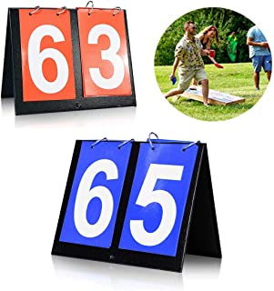 "Seapon Cornhole Scoreboard, Score Keeper for Corn Hole Game Play Cornhole Bags, Portable Score Board for Backyard Yard Outdoor Games, Portable Flipper Flip Cards Flips Up to 99"", Men Or Boy`s Gift`s"