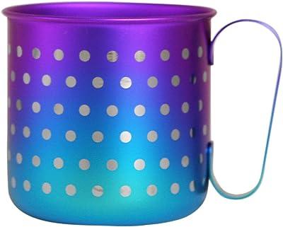 チタンマグカップ 水玉S ブルーパープル 25207