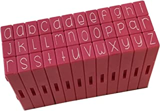 Pink and Main Pegz (36-Piece) Curvy Girl Font Stamps Lower Pink
