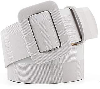 MYCHOMEUU New Multi-Color Decorative Dress with Sweater Thin Belt Ladies Wild pin Buckle PU Wide Belt Belt (Color : Grey, Size : 105 * 4.3cm)