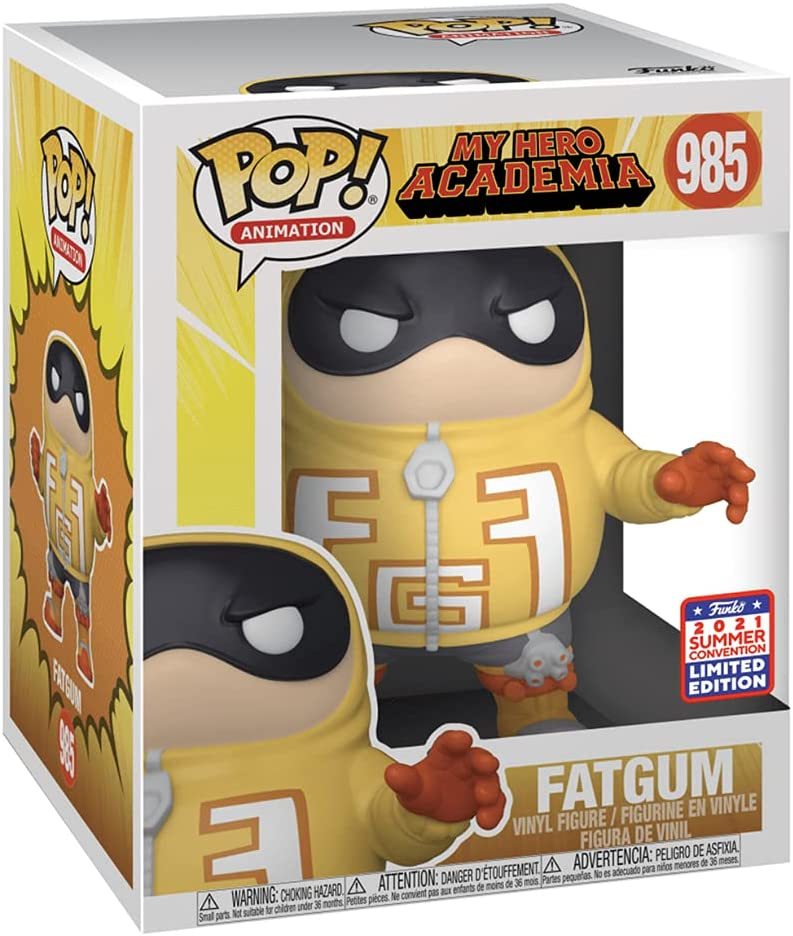 Funko Pop! Super: My Hero Academia Fatgum 2021 FunKon Exclusive Summer...